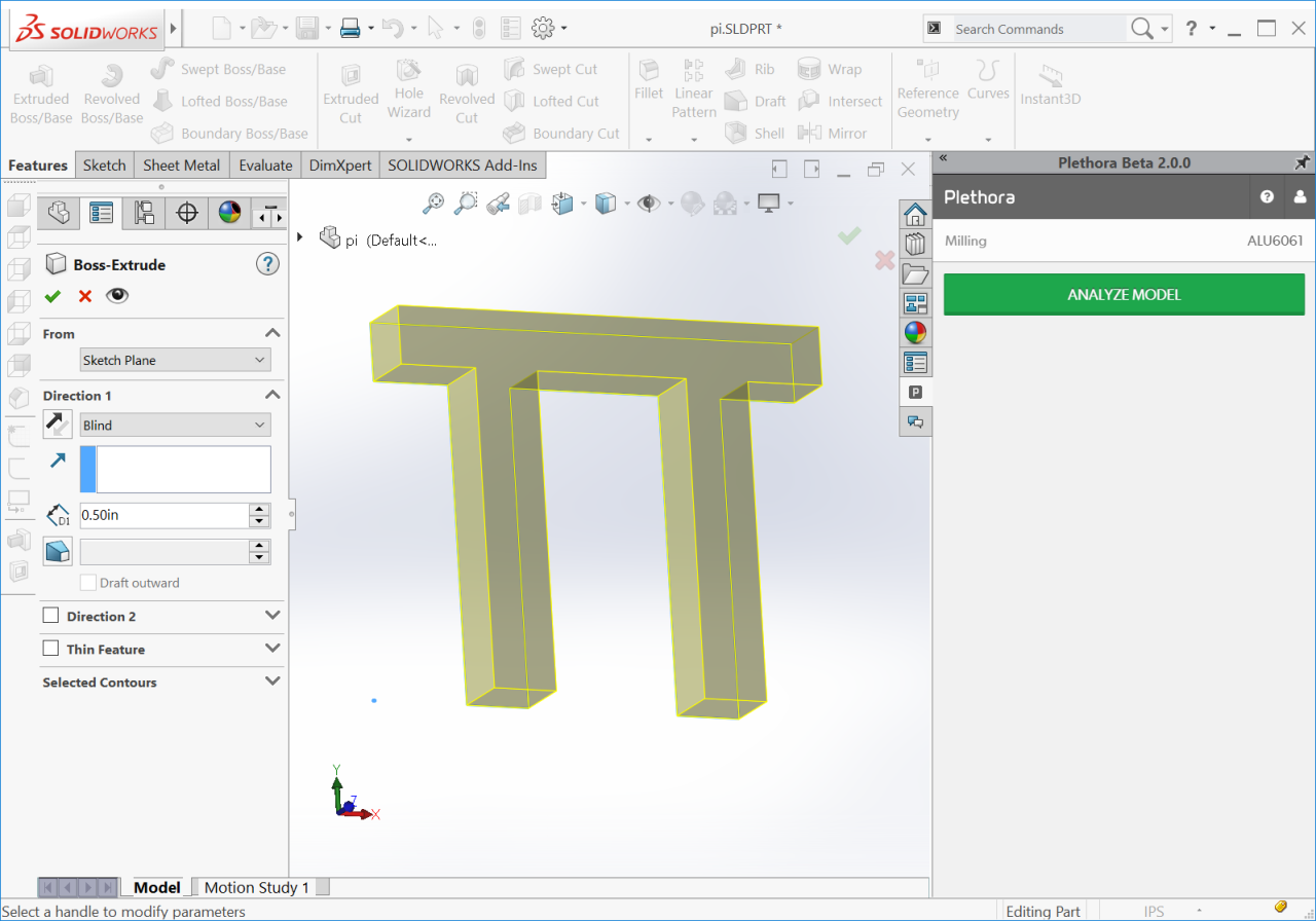 Plethora CAD add-in for analysis